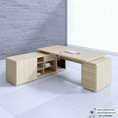 Light Beach Colour L Shaped Office Table in Nigeria