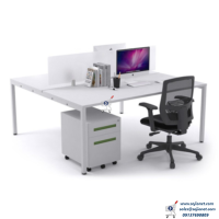 Glass Partition Workstation Table Desk in Lagos Nigeria