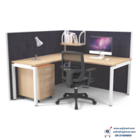 Single Seater Workstation Table Desk with Full Partition in Lagos