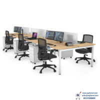 Transparent Screen Glass Partition Workstation Table Desk in Lagos Nigeria